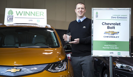 GLS17 Canadian Green Car Award winner Chevrolet Bold